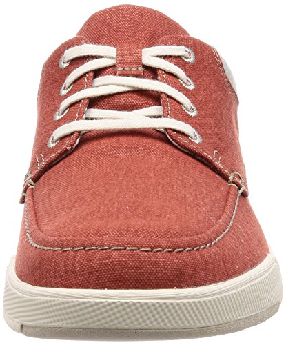 Scarpe Isle Clarks Derby Stringate Lace Canvas Rosso Step Uomo Rust cacAPt