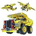 組み立てキット おもちゃ - トラックと飛行機 2イン1 パック 教育的なSTEM学習セット 子供用 ギフトに最適