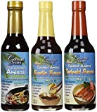 Coconut Secret Coconut Aminos Teriyaki Sauce, Garlic Sauce, and Aminos (Bundle) (2-Pack of 3)
