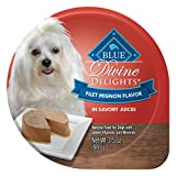 Blue Buffalo Divine Delights Natural Adult Small Breed Wet Dog Food Cup, Filet Mignon Flavor In Savory Juice 3.5-Oz (Pack Of 12)