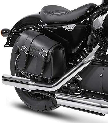 Sacoche Cavali/ère 8L pour Harley Fat Boy Special//Lo Noir Gauche