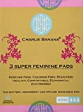 Charlie Banana Washable Reusable Super Feminine Menstrual Pads - 3 Pack (White) by Charlie Banana