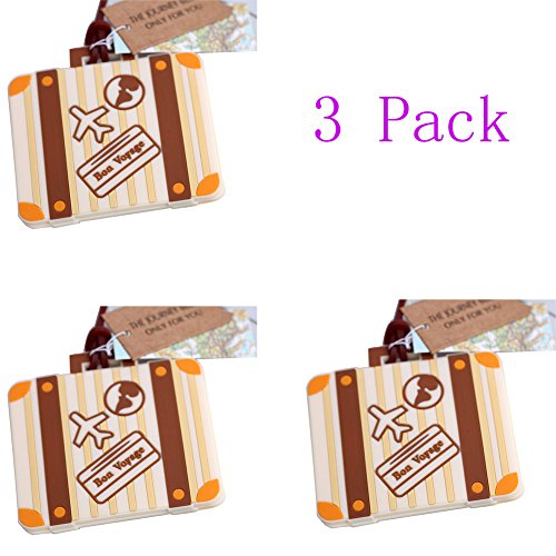 Willcome Vintage Wedding Married Luggage Tags   Travel Id Suitcase Tags   Business Card Holder Bag Tag  Pack Of 3