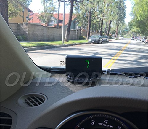 Universal GPS Speedometer HUD MPH & KM/h; + GPS Logger; Plug N Play, Overspeed Warning. All Moving Vehicles, Cars & Trucks, Golf Car, Electric Mobility Scooter, Power Sport vehicle, Boat...