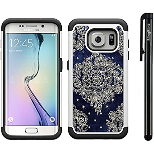 Galaxy S7 Case, BlingBlink [Shock Absorption] Studded Rhinestone Bling Hybrid Dual Layer Armor Defender Protective Case Cover for Samsung Galaxy S7 (Black Sales
