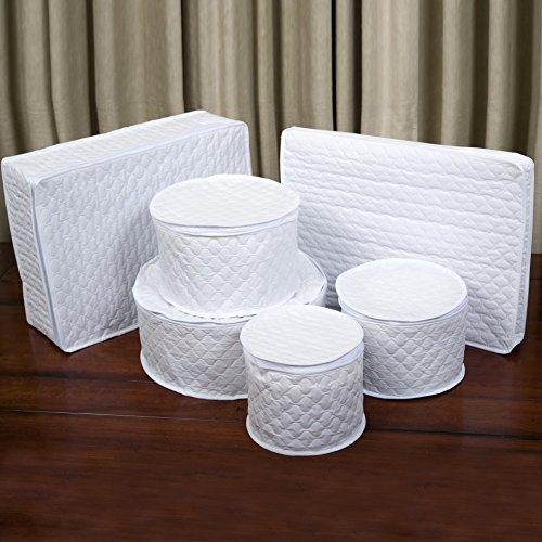 Marathon Housewares KW200025 China Storage 6 Piece Vinyl Dish Case Set
