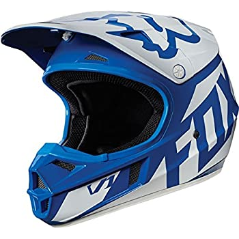 Fox Racing Race Youth V1 Motocross Motorcycle Helmet - Blue / Medium