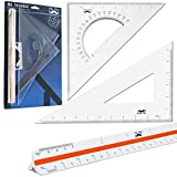 Mr. Pen Architectural Triangular Ruler Set with