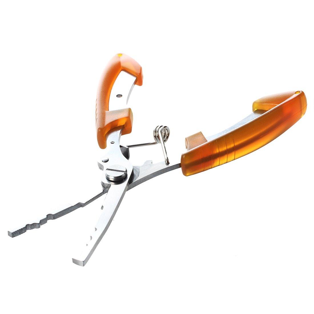 TOOGOO(R)16cm Alicates Tijeras herramienta de corte de linea de pesca de acero inoxidable Naranja: Amazon.es: Deportes y aire libre