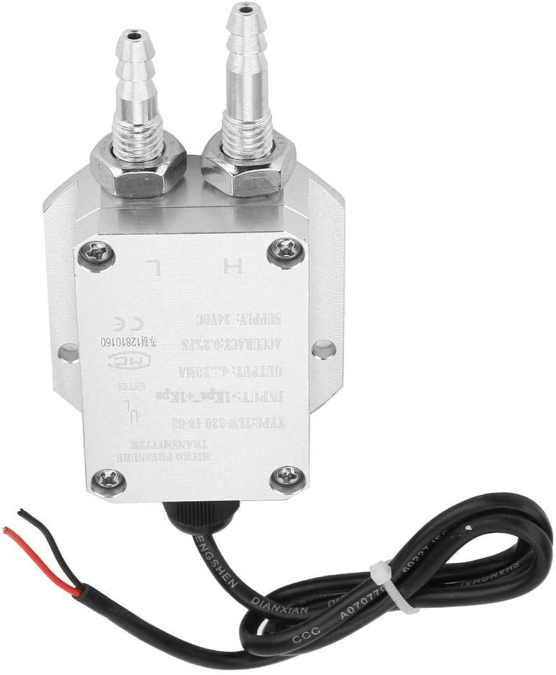 0~500pa Differential Pressure Transmitter 4-20mA Micro Differential Pressure Sensor for Medical Treatment,Power Plant,air Conditioning and Other Environment