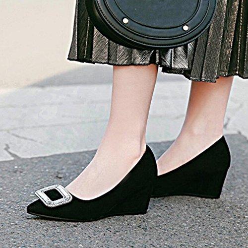 Chaussures Noir Moyen pour escarpins Peu Gommage Rouge Talons Profonde Noir Pente 6cm Femmes Talon Hauts Printemps Bouche Gris c7cq6TC