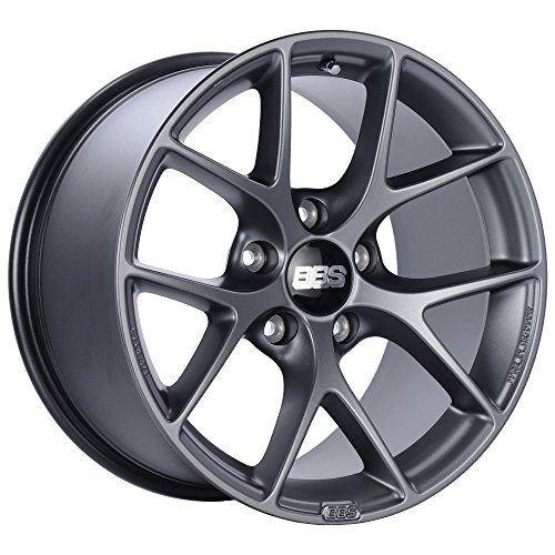 BBS SR Satin Grey Wheel with Painted Finish (18 x 8. inches /5 x 100 mm, 48 mm Offset)