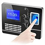 ROLL Fingerprint Attendance Machine, Color TFT Screen Voice Prompt Biometric Fingerprint Time Recorder Employee Payroll Recorder Machine
