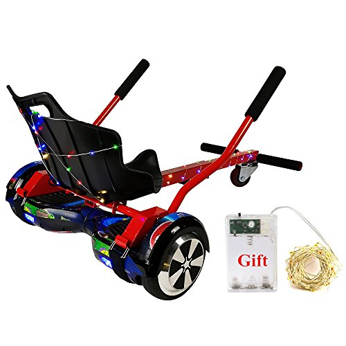 """Cool Mini Kart Hoverboard Accessories for 6.5"""" 8"""" 10""""Two Wheel Self Balancing Scooter, Not Noly STAND,Can be LIKE A GO-KART(Not Included Balance Board)(Red)"""