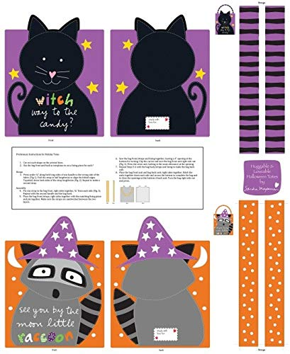 Studio E Huggable and Loveable Cut and Sew Halloween Treat Bags Fabric Panel