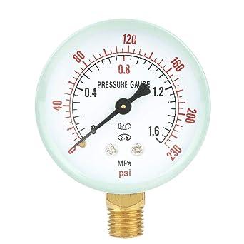 Manómetro de Bourdon hidráulico MAT1F10B19 4bar tamaño de conexión G 1//8