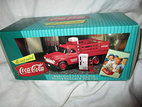 - Coca Cola Stake Truck with Vending Machines & Dolly Cart