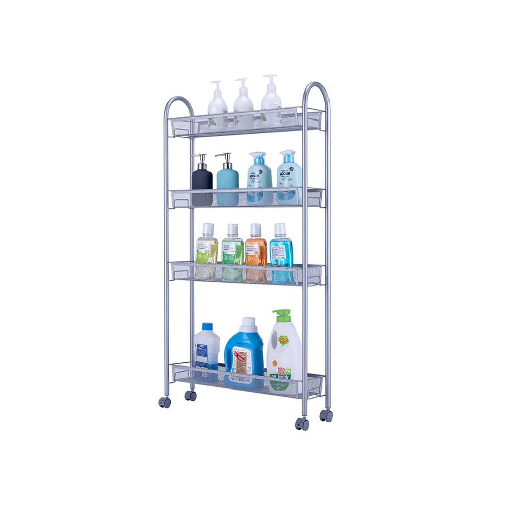 Bookcases Home Kitchen Racks, Kitchen Racks, Punching, Removable Supplies, Kitchen Utensils, Racks, Storage Racks, Shelf Racks Yixin (Color : A, Size : 5515105cm)