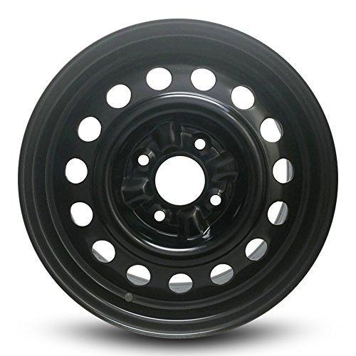 114.3 Replica Wheel (New Black Nissan Sentra Altima 15 Inch Steel Rim Full Size Replica Spare Wheel (15x6