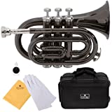 Cecilio Black Lacquered Bb Pocket Trumpet - PT-280BK