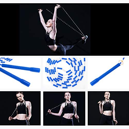 Jump Rope - Soft Beaded Segment Skipping Rope - Adjustable for Men, Women and Kids Tangle-Free Jumping Rope for Workout, Exercise, Keeping Fit, Training and Weight Loss 3