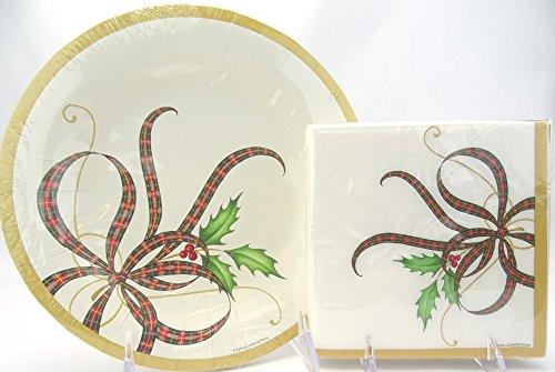 (Serves 16! Lenox Holiday Nouveau Party Paper Plate & Napkin Set, 36)