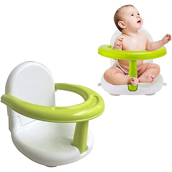 Baby Bathtub Seat for Sit Up,Multi-Function Anti-Skid Safety Seat,Newborn Practice Sitting Safety Chair with Backrest Support for Kids /& Toddlers /& Babies Foldable Baby Bath Seat