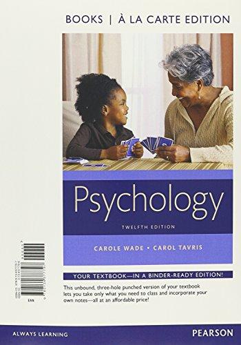 Psychology, Books a la Carte Edition (12th Edition)