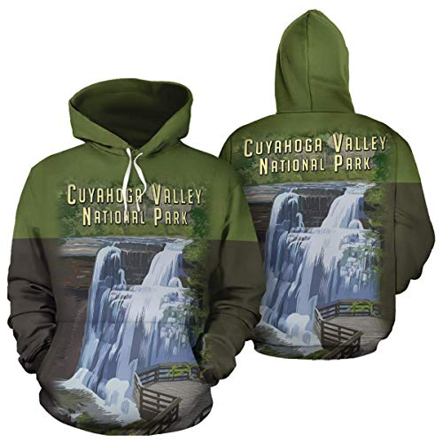 Cuyahoga Valley National Park Unisex Pullover Hoodies Hooded Sweatshirts Birthday Christmas Mountain Climbing Mountaineering Hiking Trekking Gifts For Men Women Climbers Hikers Mountaineers Lovers