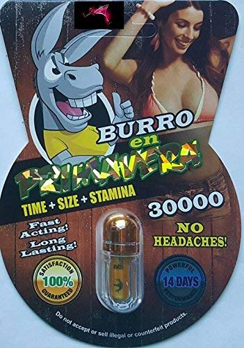 Burro  30000 AND Neptune 5000 Super Male Enhancer | Made in USA | Set of 6 Pills Plus Love Potion Exclusive Pen