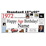 1972 PERSONALIZED BANNER by Partypro