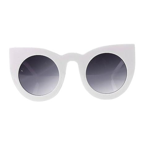Sharplace Donne Del Classico Occhiali Da Sole Del Modello Del Gatto Occhiali - Bianco nero, Taglia unica