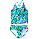 Kanu Surf Big Girls' Krista Floral Tankini Swimsuit, Aqua, 12