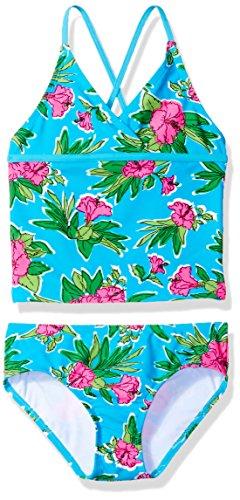 - Kanu Surf Big Girls' Candy Beach Sport 2-Piece Tankini Swimsuit, Krista Floral Aqua, 7