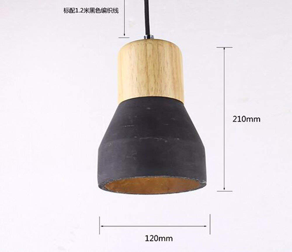 EI Guo Home Vintage Kronleuchter Kreative Home Beleuchtung Persönlichkeit Restaurant Schlafzimmer Wohnzimmer Beleuchtung Zement Retro Mini Taschenlampe 120  210 Mm Schwarz