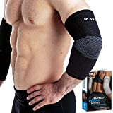 Mava Sports Elbow Sleeve Recovery Compressionm Size XL - Support for Workouts, Weightlifting, Arthritis, Tendonitis, Tennis and Golfer's Elbow - Bamboo Charcoal Athletic Elbow Compression Sleeves