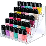 Ikee Design Nail Polish Cosmetic Makeup Accessory 5 Tiered Table Rack Display Organizer