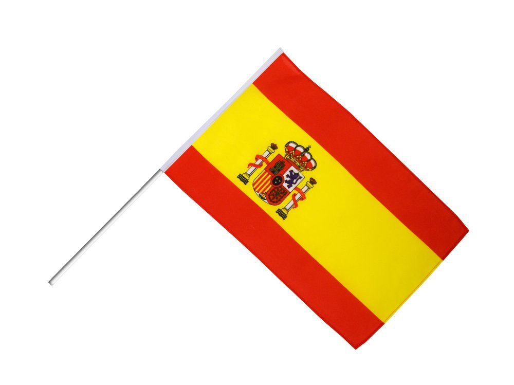 Digni Grand drapeau Espagne sur hampe 60 x 90 cm sticker gratuit
