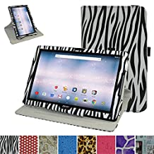"Acer Iconia One 10 B3-A30 Rotating Case,Mama Mouth 360 Degree Rotary Stand With Cute Lovely Pattern Cover For 10.1"" Acer Iconia One 10 B3-A30 Android Tablet, Zebra Black"