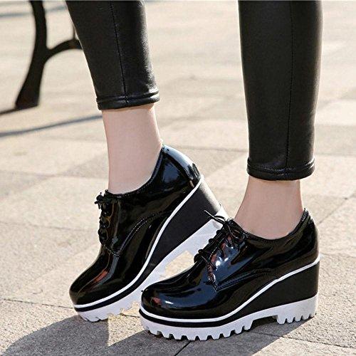 Coolcept Zapatos con Plataforma de Tacon Cuna para Mujer Black