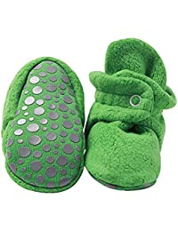 Boys' Cozie Fleece Baby Booties with Grippers