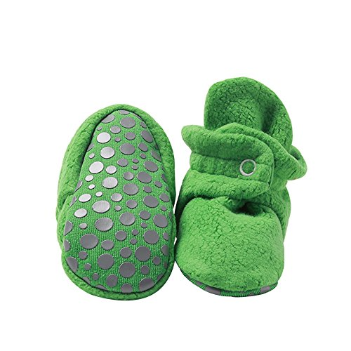 Zutano Cozie Fleece Baby Booties with Grippers 18M (12-18 Months), Apple