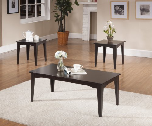 Pc Kings Brand Espresso Finish Coffee Table End Tables - Espresso finish coffee table set