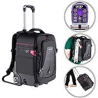 Neewer 2-in-1 Rolling Camera Backpack Trolley...