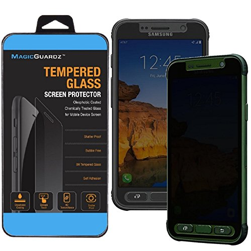 MagicGuardz, Made for Samsung Galaxy S7 Active (ONLY for Active), Privacy Anti-Spy Tempered Glass Screen Protector Shield, Retail Box