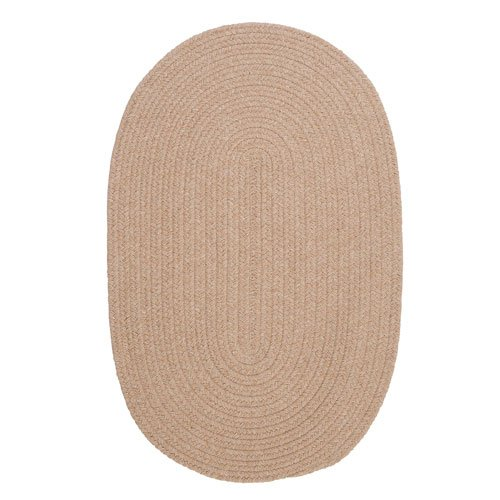 Solid Wool Blend Oatmeal Rug Rug Size: Round 7'