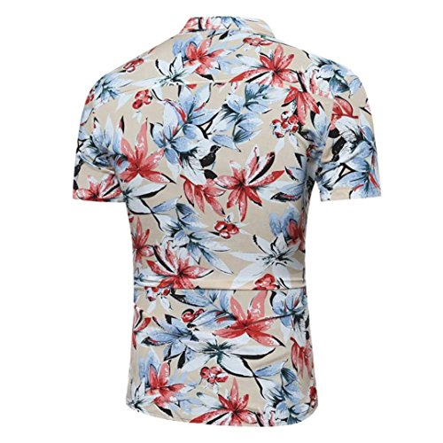 corta Personalidad Algod impresa Manga Camiseta africana los de Camisa Aimee7 hombres IxAq6ZzWw