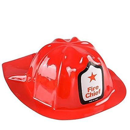 d757776e Amazon.com: Kidsco Red Fire Chief Firefighter Hat, 12 Fireman Hats ...