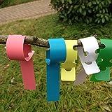 Allure Maek 500 Pcs 2x20cm 5 Colors Plastics Weatherproof Plant Wrap Around Hanging Tree Tags Nursery Garden Labels Tags Markers