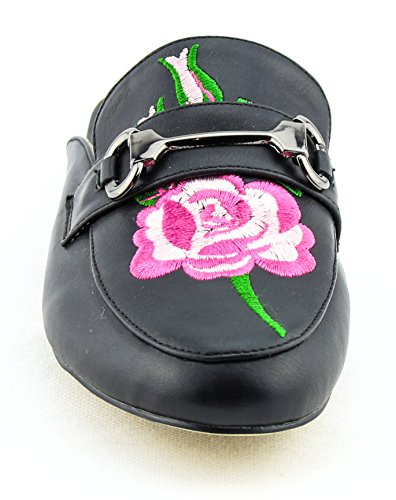 CALICO KIKI Damenmode Schuhe Slip-On Mule Slide Loafer Wohnungen Pu_black